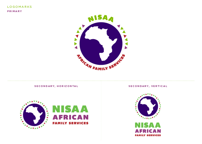 NISAA African Family Services Logomarks