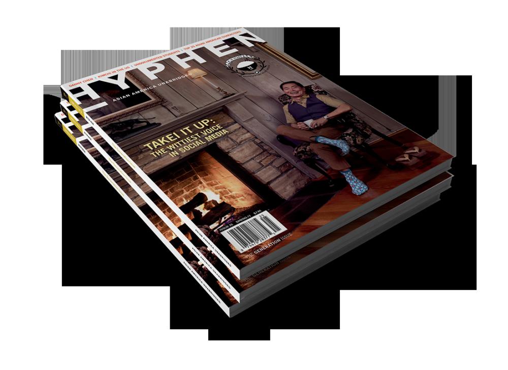 Graphic design by Swash Design Studio for Hyphen Magazine