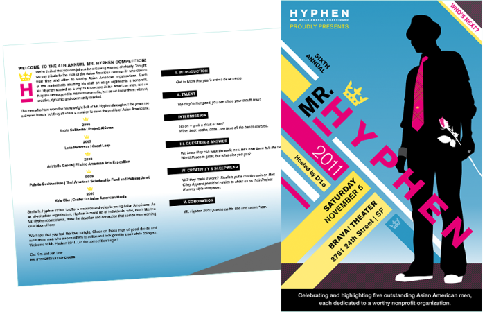 Print design for Hyphen magazine by Swash Design Studio