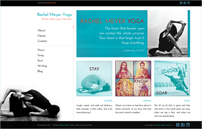 Web and graphic design by Swash Design Studio