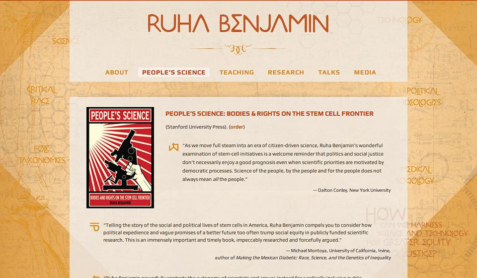 Web Design by Swash Design for Ruha Benjamin